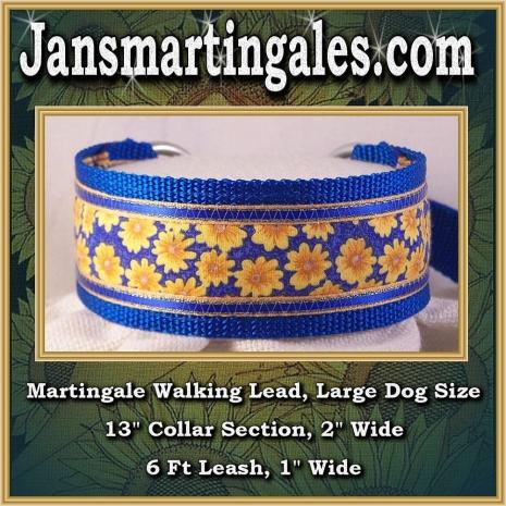 martingale walking lead large dog size
