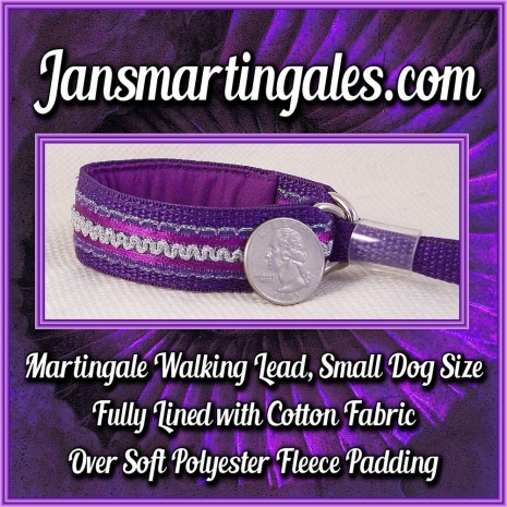 martingale walking lead,  small dog size