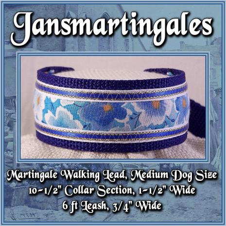 martingale walking lead,  medium dog size