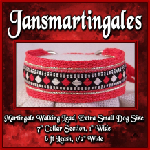 martingale walking lead, extra small size