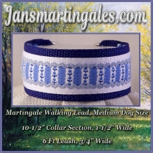martingale walking lead medium dog size