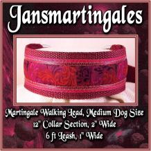 martingale walking lead medium large dog size