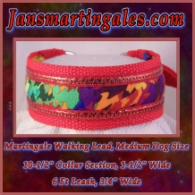 martingale walking lead medium dog size